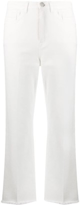 Pinko Mid-Rise Flared Cropped Jeans