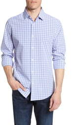Mizzen+Main Robbins Trim Fit Plaid Performance Shirt