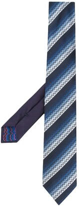 Missoni Striped Knitted Tie
