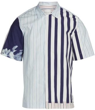 Paul Smith Contrast Stripe Cotton Shirt