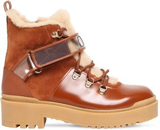 Valentino 40mm Trekgirl Leather & Suede Boot