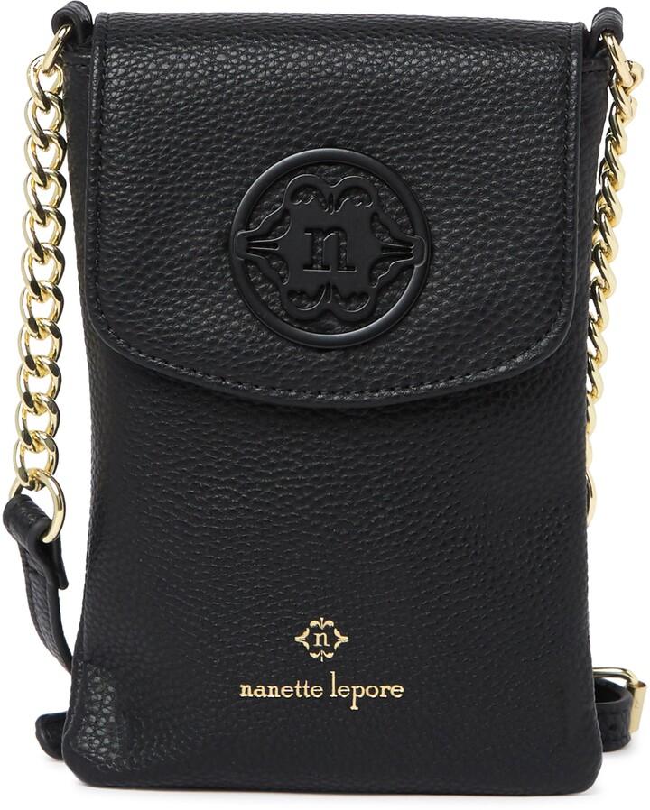 Nanette Lepore Embossed Phone Crossbody Bag