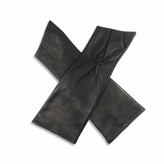 Harssidanzar Women's Fingerless Elbow Long Opera Leather Gloves GL015