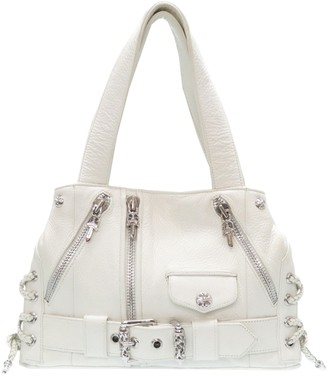 Chrome Hearts White Leather Handbags