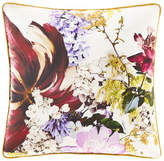 "Roberto Cavalli Floris Silk Pillow, 23""Sq."