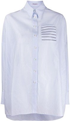 Brunello Cucinelli Glitter Trim Shirt