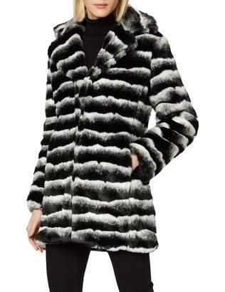 Cuplé Women's 99397 Coat Multicoloured (Blanco/Negro) Small