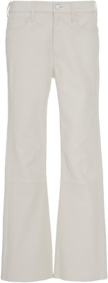 Frame Le Crop Flared Cropped Leather Pants
