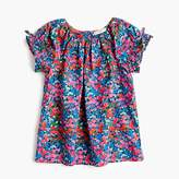 J.Crew Girls' gathered-sleeve top in garden floral