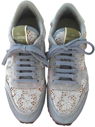 Valentino Rockrunner Blue Lace Trainers