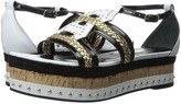 Just Cavalli Calf and Patent Leather with Rope and Cork