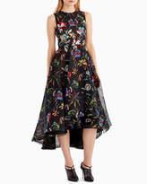 Jason Wu Sleeveless Floral-Print Organza Cocktail Dress