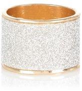 River Island Womens Gold tone oversized glitter ring