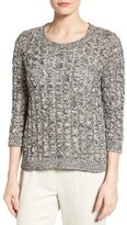 Eileen Fisher Women's Organic Cotton Cable Tape Yarn Sweater
