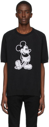 TAKAHIROMIYASHITA TheSoloist. Black Disney Edition Mickey Knit T-Shirt