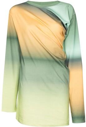 Y/Project Twist-Front Ombre Sweatshirt