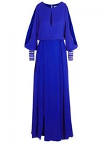 Genny Cobalt Embroidered Gown