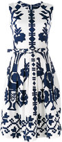 Samantha Sung flared sleeveless dress - women - Cotton/Spandex/Elastane - 2