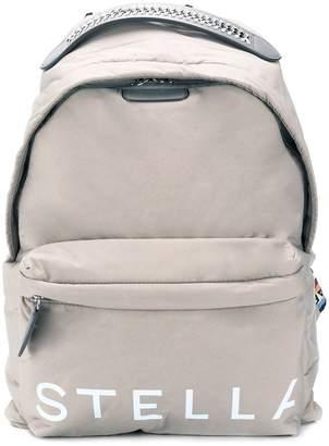 Stella McCartney logo-strap backpack