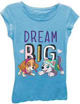 Asstd National Brand Paw Patrol Girls' Dream Big Short Sleeve Graphic T-Shirt with Gold Glitter