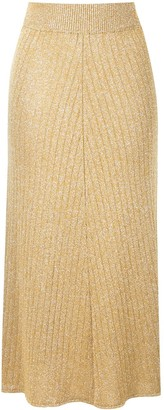 MSGM High-Waisted Ribbed Knit Skirt