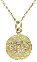 Allura 0.15 CT. T.W. Cubic Zirconia Eye Pendant Necklace in Yellow Rhodium Plated Sterling Silver