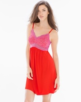 Soma Intimates Lace Sleep Chemise Poppy Red/Rose Violet