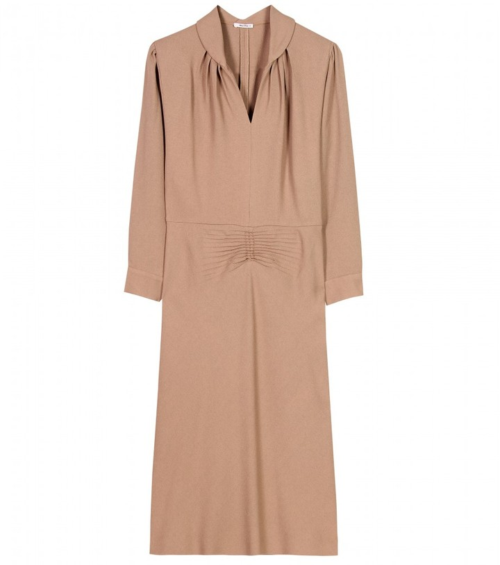 Miu Miu CREPE DRESS WITH STRUCTURED SHOULDERS