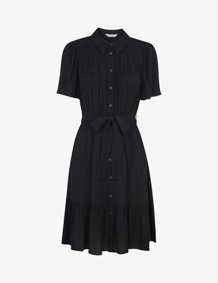 Whistles Tate button-through crepe dress