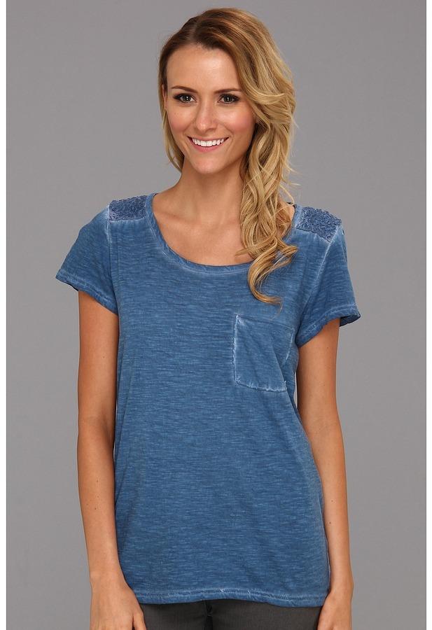 Calvin Klein Jeans Smocked Twist Dye Tee (Biro Blue) - Apparel