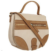 B. Makowsky As Is Waverly Woven Leather Crossbody