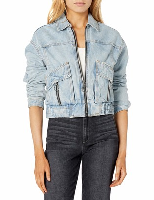 Ax Armani Exchange A|X Armani Exchange Women's Short Full Zip Jacket with Special Zippers