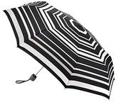 Fulton Superlite Magic Stripe Folding Umbrella, Black/Multi