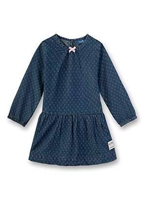 Sanetta Baby Girls' Dress Denim (Blue Breeze 9563), (Size: 080)