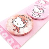 Hello Kitty Set of two badges 'Hello Kitty' red rose.