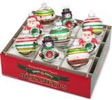Christopher Radko Shiny Brite Holiday Splendor Rounds & Reflector Figures Boxed Ornaments, 9-Pc. Set