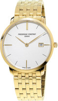 Frederique Constant FC220V5S5B Slimline yellow gold-plated stainless steel watch