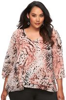 JLO by Jennifer Lopez Plus Size Chiffon Blouse