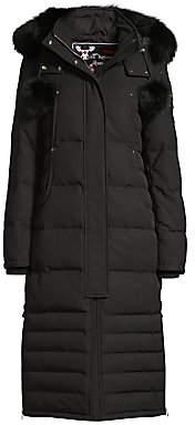 Moose Knuckles Women's Saskatchewan Fur-Trim Hooded Quilted Parka