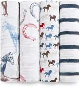 Aden Anais Aden + Anais Baby Boys 4-Pack Wild Horses Swaddle Blankets