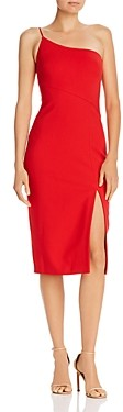 LIKELY Cassidy One-Shoulder Midi Sheath Dress