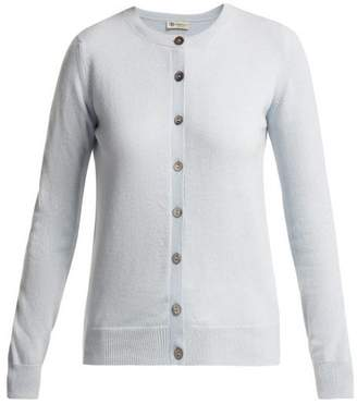 Connolly - Fine-knit Cashmere Cardigan - Womens - Light Blue