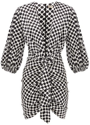 Alexandre Vauthier Polka-dot Silk-blend Satin Mini Dress - Black White