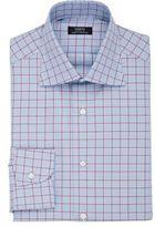 Fairfax Men's Mixed-Check Cotton Shirt-BLUE