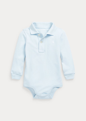 Ralph Lauren Cotton Interlock Polo Bodysuit