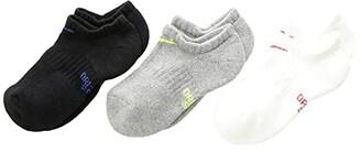 Nike Performance Cushioned No-Show Training Socks 3-Pair Pack (Little Kid/Big Kid) (Multicolor) Kids Shoes