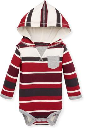 Burt's Bees Multi Stripe Organic Baby Hooded Bodysuit