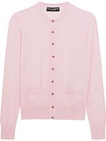 Dolce & Gabbana Embellished Cashmere Cardigan - Pastel pink