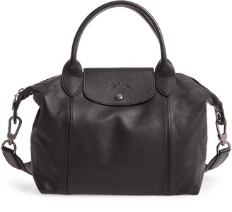 Longchamp Le Pliage Cuir Leather Shoulder Bag