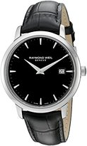 Raymond Weil Men's 'Toccata' Swiss Quartz Stainless Steel and Leather Automatic Watch, Color:Black (Model: 5488-STC-20001)